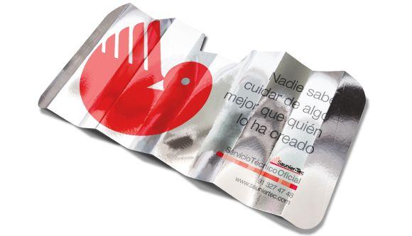 Aluminium-Front Autoscheiben Sonnenschutz und weißen Öko-Pappe Film… Es ermöglicht den Druck von Texten…