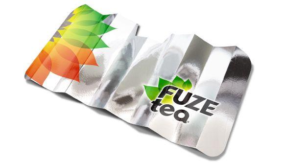 Aluminium-Front Sonnenschutz Für Pkw und weißen Öko-Pappe Film… Es ermöglicht den Druck von Texten…