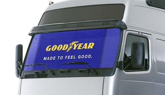 Sonnenschutz-LKW Jumbo Truck großer Sonnenschirm benutzerdefinierte Film Aluminium honeycomb Metallic beidseitig…